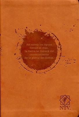 Biblia Habacuc 2:14 café (Imitación Piel ) [Biblia]